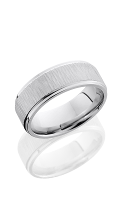 Lashbrook Cobalt Chrome Wedding Band CC8FGE TREEBARK-POLISH product image