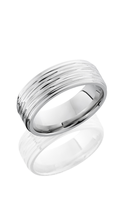 Lashbrook Cobalt Chrome Wedding Band CC8FGE TREEBARK 3-POLISH product image