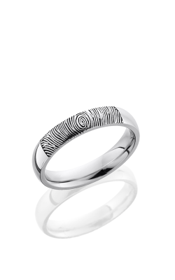 Lashbrook Cobalt Chrome Wedding Band CC4D/LCVFINGERPRINT2 POLISH product image