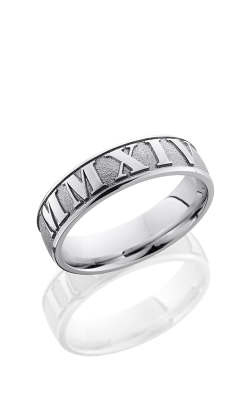 Lashbrook Cobalt Chrome Wedding Band CC6D/LCVROMMANNUMERAL2 SANDBLAST-POLISH product image