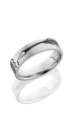 Lashbrook Cobalt Chrome Wedding band CC6F LCVFEATHERPEN product image