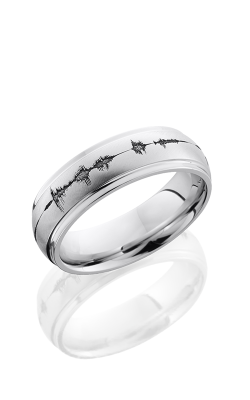 Lashbrook Cobalt Chrome Wedding Band CC7DGE LCVSOUNDWAVE product image