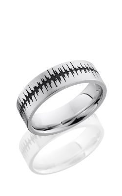 Lashbrook Cobalt Chrome Wedding Band CC7F/LCVSOUNDWAVE SATIN product image