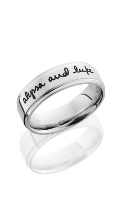 Lashbrook Cobalt Chrome Wedding Band CC7FGE LCVHANDWRITING product image