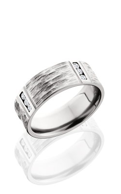 Lashbrook Cobalt Chrome Wedding Band CC8FM4VLCHANNELDIA.03 product image