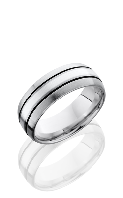 Lashbrook Cobalt Chrome Wedding band CC8D12A-SS SATIN product image