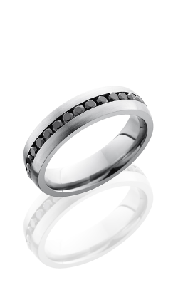 Lashbrook Cobalt Chrome Wedding band CC6DETERNITYBLKDIA product image