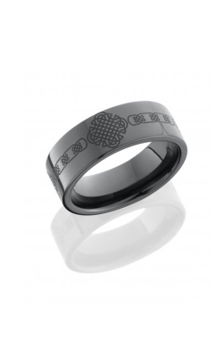Lashbrook Tungsten Ceramic Wedding Band CR8FLASERCELTIC4 product image