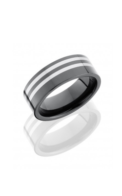 Lashbrook Tungsten Ceramic Wedding Band CT08F8389-POLISH product image