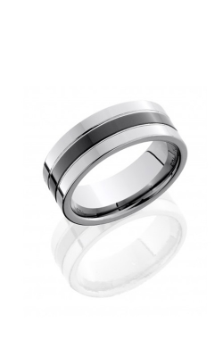 Lashbrook Tungsten Ceramic Wedding band CT08P145 product image