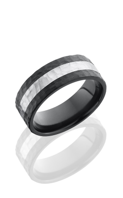 Lashbrook Zirconium Wedding Band Z8F13-SS HAMMER product image