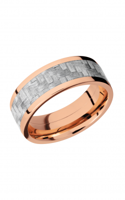 Lashbrook Carbon Fiber Wedding band 14KRC8F15 SILVERCF product image