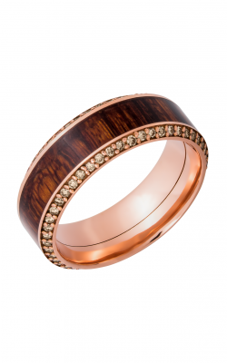 Lashbrook Hardwood Collection Wedding Band 14KRHW8.5HB14.5_NATCOCOBETERNITYCHOCDIA.0 product image