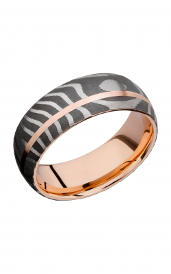 Lashbrook Damascus Steel Wedding Band 14KRSLEEVED8D11OCTIGER 4KR product image