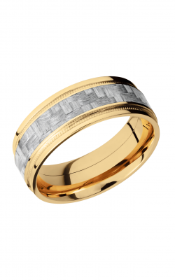 Lashbrook Carbon Fiber Wedding band 14KYC8FGEW2UMIL14 SILVERCF product image