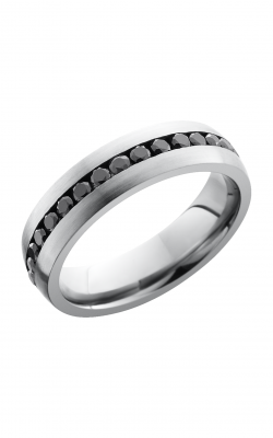 Lashbrook Titanium Wedding Band 6DETERNITYBLKDIA 04CH product image