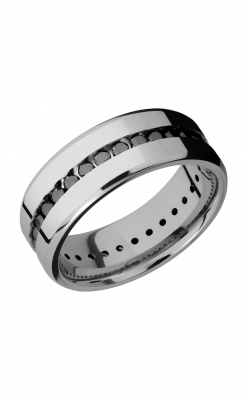 Lashbrook Titanium Wedding band 8BETERNITYBLKDIA 04CH product image