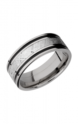 Lashbrook Meteorite Wedding band 8F1321 METEORITEA product image