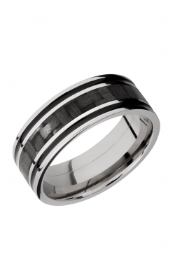 Lashbrook Carbon Fiber Wedding band C8F1321 CFA product image