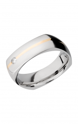 Lashbrook Cobalt Chrome Wedding Band CC7DSQ11_14KYDIAOC.07F+RECESS product image