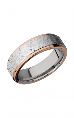 Lashbrook Meteorite Wedding band CC7FGE15C METEORITE21EDGE 14KR product image