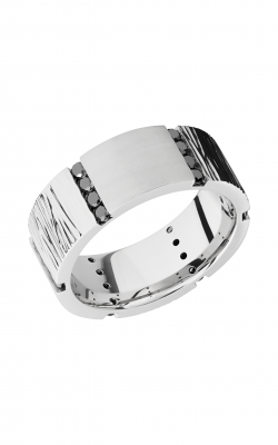 Lashbrook Cobalt Chrome Wedding Band CC8.5FSCOREDBLKDIA24X.04CH product image