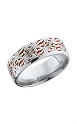 Lashbrook Cobalt Chrome Wedding Band CC8B_LCVESCHER3+REDOUT product image