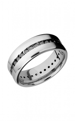 Lashbrook Cobalt Chrome Wedding band CC8BETERNITYBLKDIA.04CH product image