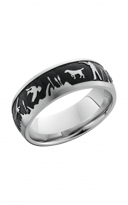Lashbrook Cobalt Chrome Wedding Band CC8D_LCVDUCKHUNT+SATIN product image