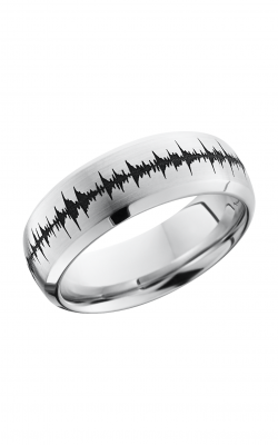 Lashbrook Cobalt Chrome Wedding band CC8DBLCVSOUNDWAVE product image