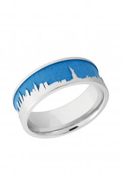 Lashbrook Cobalt Chrome Wedding band CC8F LCVNEWYORKSKYLINE product image