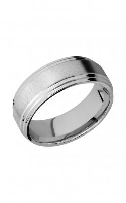 Lashbrook Cobalt Chrome Wedding band CC8F2S ANGLE product image