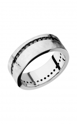 Lashbrook Cobalt Chrome Wedding band CC8FANGLEDETERNITYBLKDIA.02CH product image