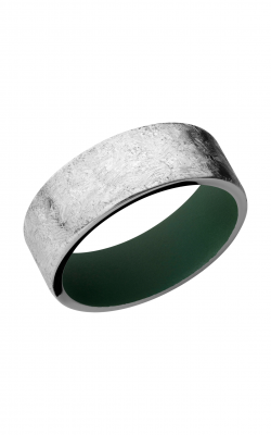 Lashbrook Cobalt Chrome Wedding band CC8FR HIGHLANDGREENIN product image