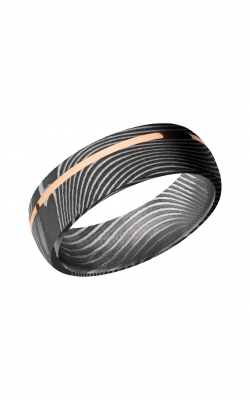Lashbrook Damascus Steel Wedding band D7D11OCFLATTWIST 14KR product image