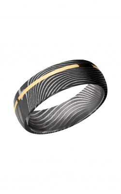 Lashbrook Damascus Steel Wedding band D7D11OCFLATTWIST 14KY product image