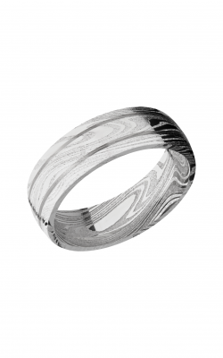 Lashbrook Damascus Steel Wedding band D7D2.5MARBLE product image