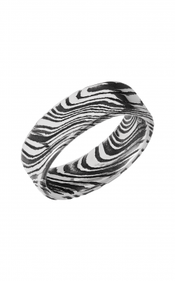 Lashbrook Damascus Steel Wedding band D7FRMARBLE product image