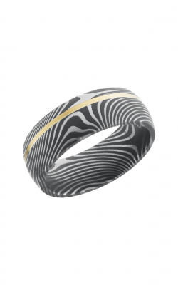 Lashbrook Damascus Steel Wedding band D8D11OCFLATTWIST 14KY product image