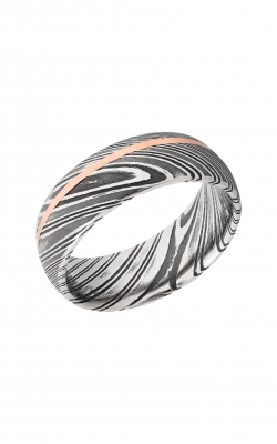 Lashbrook Damascus Steel Wedding band D8D11OCWOODGRAIN 14KR product image