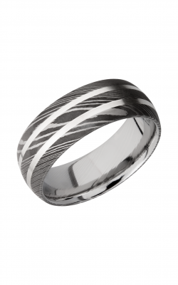 Lashbrook Damascus Steel Wedding band D8D21 SS product image