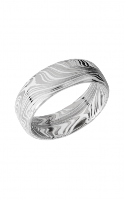 Lashbrook Damascus Steel Wedding Band D8DBMARBLE+WHITEALL product image