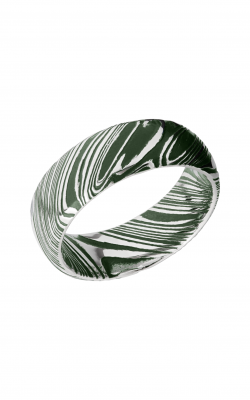 Lashbrook Damascus Steel Wedding Band D8DWOODGRAIN_EASTERNGREENALL product image