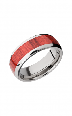 Lashbrook Hardwood Collection Wedding band HW8D15 REDHEART product image