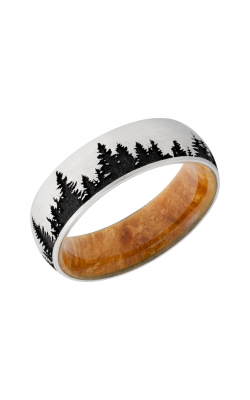 Lashbrook Hardwood Collection Wedding Band HWSLEEVECC7D_LCVTREES_A+BOXELDERBURL+BLACK product image