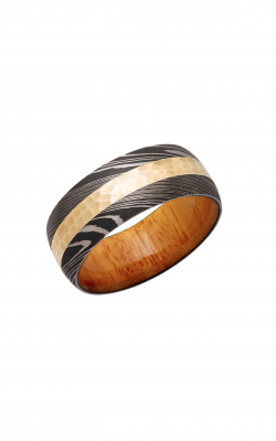 Lashbrook Hardwood Collection Wedding Band HWSLEEVED9D13_14KY+OSAGEORANGE product image