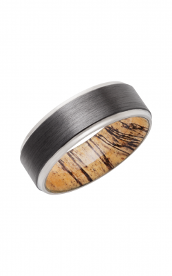 Lashbrook Hardwood Collection Wedding Band HWSLEEVEZ8FGE+SPALTEDTAMARIND_SILVER product image