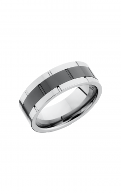Lashbrook Tungsten Ceramic Wedding band TCR9098 POLISH product image