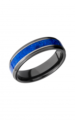 Lashbrook Zirconium Wedding Band Z6FGE13_LAPIS_SILVER product image