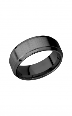 Lashbrook Zirconium Wedding band Z8B S CROSS SATIN product image